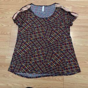 LulaRoe Multi colored blouse